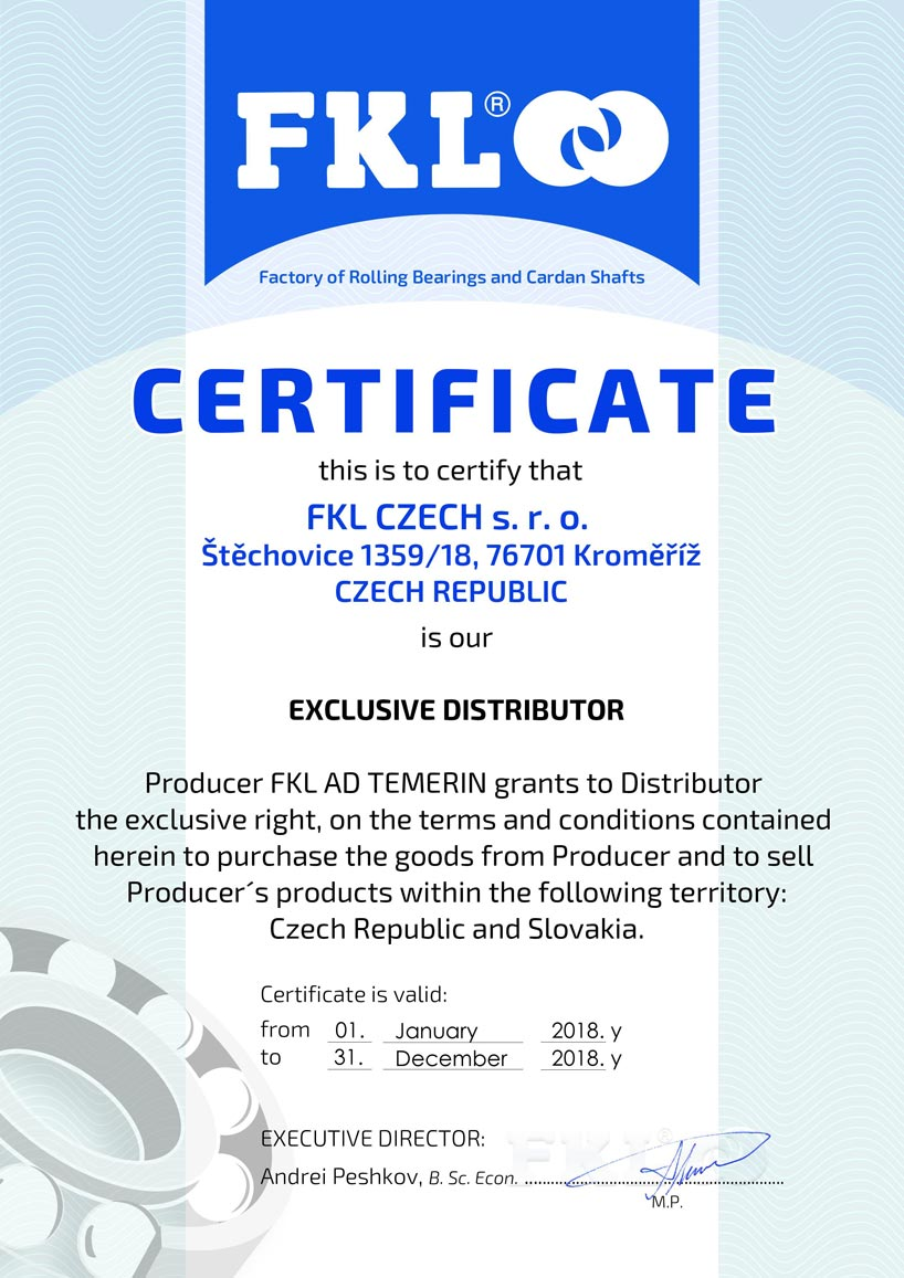 FKL certifikát